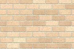 Light brown brick wall abstract background. Texture of bricks. Vector illustration. Template design for web banners.  royalty free illustration