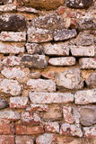 Light Brown brick wall background texture. Old bricks rusty wall of ancient city stock images