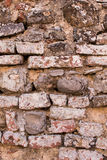 Light Brown brick wall background texture, old bricks rusty wall. Of ancient city stock photos