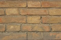 Light brown brickwork from late 19th century royalty free stock photography
