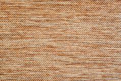 Light brown burlap surface detail Stock Image