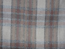 Light brown colored cotton fabric texture Royalty Free Stock Photos