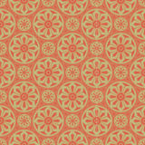 Light Brown Colors Round grid Pattern. Korean traditional Patter Royalty Free Stock Photo