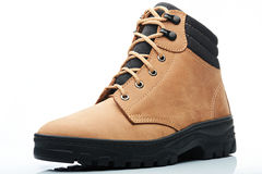 Light brown combat boot Royalty Free Stock Photo