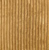 Corduroy Fabric Texture - Light Brown. Light brown corduroy fabric close-up Stock Image