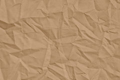 Light  brown  crumpled  fabric  for  background Royalty Free Stock Image