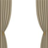 Light brown curtains background Royalty Free Stock Images