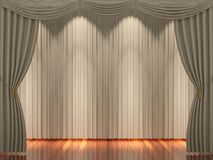 Light brown curtains background Royalty Free Stock Image