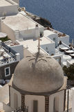 Light brown dome of the Orthodox church in Oia, Santorini, Greec. E Royalty Free Stock Photo
