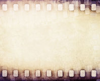 Light brown film strip background Stock Photos