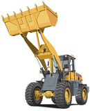 Light-brown front end loader stock illustration