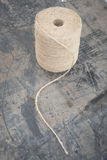 Light Brown Gardening String with Unwinding Trailing Thread Stock Images