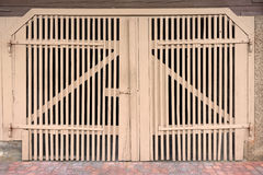 Light brown gate Stock Images