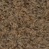 Light brown granite texture with black dots. Seamless square background, tile ready. stock image