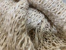 The light brown Hemp fibers texture as natural background. The closed up of light brown Hemp fibers texture as natural background royalty free stock image