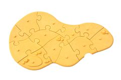 The light brown of jigsaw puzzle Stock Image