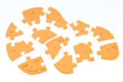 The light brown of jigsaw puzzle Stock Photography