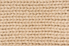 Light brown knitted wool Royalty Free Stock Photo
