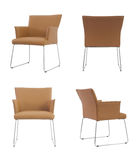 Light Brown leather Chair Royalty Free Stock Images