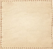 Light brown leather jeans label Royalty Free Stock Photo