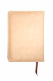 Light brown leather notebook Stock Images