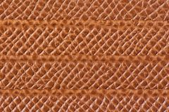 Light brown leather texture with horizontal lines Stock Photography