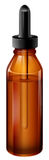 A light brown medical bottle with a dropper. Illustration of a light brown medical bottle with a dropper on a white background Stock Image