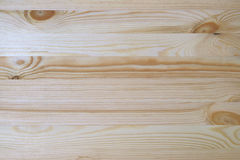 Light Brown Natural Wood Plank with Beautiful Pattern, Top View of Table Surface. For Background royalty free stock image
