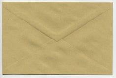 Light brown paper envelope. Isolated envelope for sending a letter via mail Royalty Free Stock Image