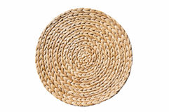 Light brown round mat Royalty Free Stock Photo