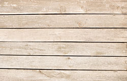 Light brown scratched wooden planks, wall, table, ceiling or floor surface. Stock Photos