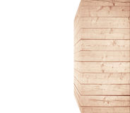 Light brown scratched wooden wall or rectangular big box. Wood texture. Space for text Stock Images