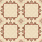 Light brown vector seamless pattern with squares - background Royalty Free Stock Photography