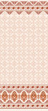 Light brown seamless pattern with wide border Stock Images
