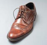 Light brown shoe royalty free stock photos
