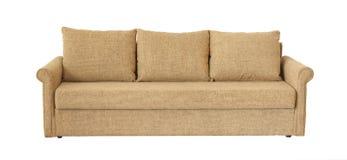Light brown sofa isolated on white Stock Photos