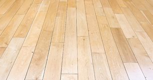 Light brown soft wood floor surface texture as background, varnished wooden parquet. Old grunge washed oak laminate pattern top vi. Ew royalty free stock photos
