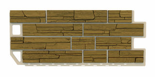 Light brown Stone facade panel Royalty Free Stock Image
