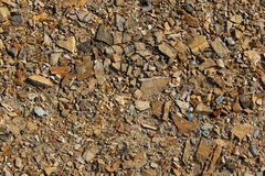 Light brown stone. Lead to roadwork Royalty Free Stock Photography