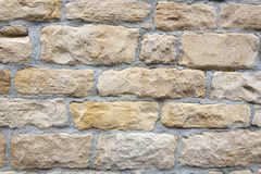 Light brown stone wall Stock Image