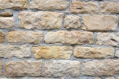 Light brown stone wall Stock Image