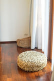 Light brown stool ,made from piece of cloth Royalty Free Stock Photography