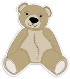 Light Brown Teddy Bear. Pleasant illustration of light brown teddy bear in sitting position Royalty Free Stock Photo