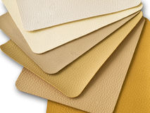 Light Brown Tone. Leatherette color sample Stock Photo