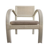 Light Brown Wicker chair Isolated with Path Royalty Free Stock Photo