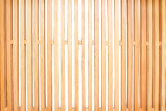 Light brown wood fence with blank space alternating patterns in vertical shaped isolated on white background. Close up Light brown wood fence with blank space stock images