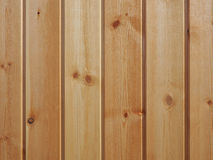 Light brown wooden wall background. Wall of wooden building. Royalty Free Stock Photography