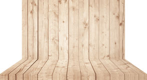 Light brown wooden wall texture with old pine, fir floor Stock Images