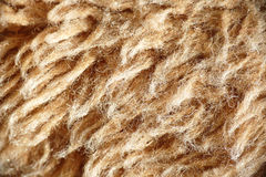 Light brown wool. Closeup of light brown colored wool textile royalty free stock photography