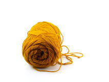 Light brown yarn ball Stock Photography